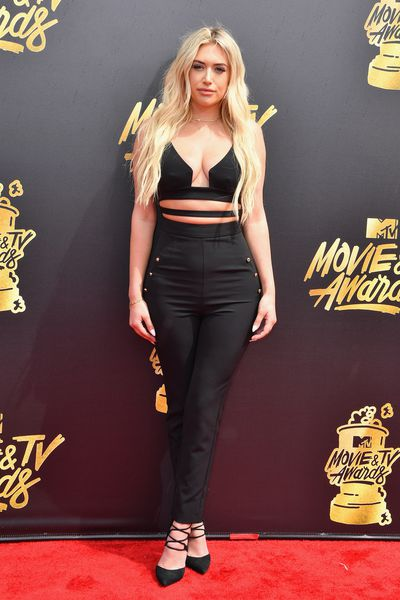 Model Anastasia Karanikolaou at the 2017 MTV Movie & TV Awards in Los Angeles