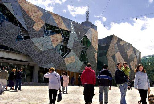 Federation Square in Melbourne.