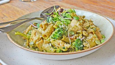 Wholefood chicken pesto pasta