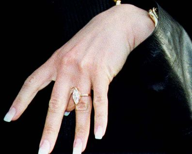 Victoria Beckham, David Beckham, engagement ring