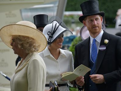 Harry and Meghan with Camilla and Kate royal ascot