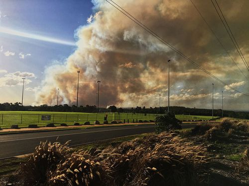 The fires are believed to have been deliberately lit. (Luke Cooper)
