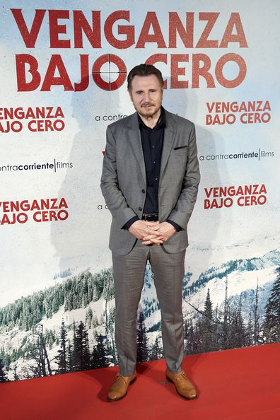 Liam Neeson at the Cold Pursuit premiere in Madrid