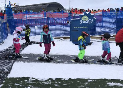 Kids playing at kids' club Skiwiland, Coronet Peak, Queenstown