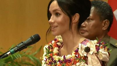 Duchess makes first tour speech in Fiji