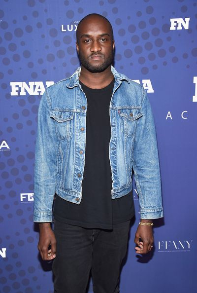 Off-White's Virgil Abloh at the FN Achievement Awards in New York.