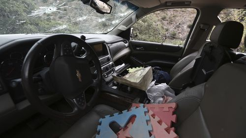 Foam floor puzzle pieces and children's toys were found inside the cars.