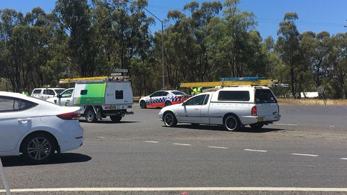 The crash involved seven vehicles and 12 people. (Image: 9NEWS)