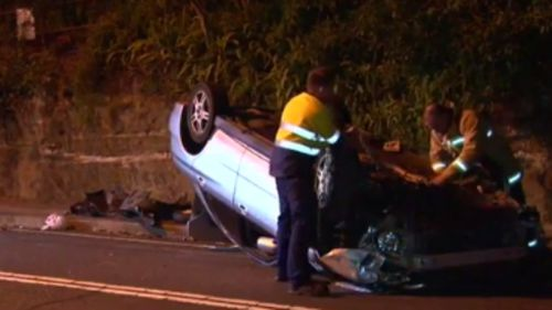 Driver and passengers missing after car crash in Sydney