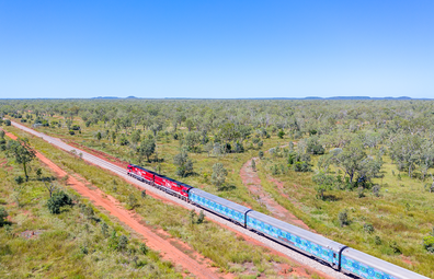 The Ghan featuring a Partjima makeover