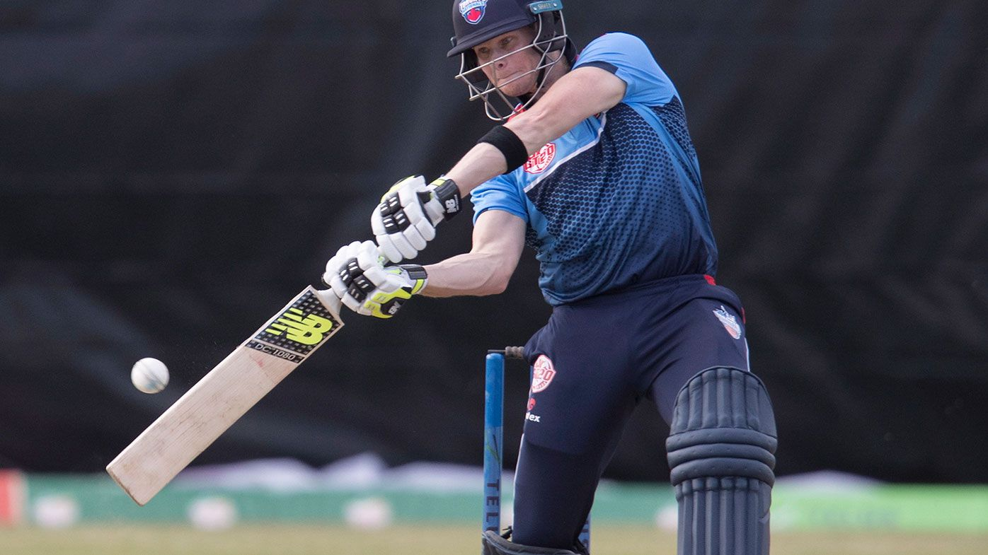 Steve Smith batting for Toronto in the Global T20 Canada league