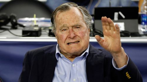 A spokesman for former President George H.W. Bush says the 93-year-old has been hospitalised in Maine for low blood pressure and fatigue. Picture: AP