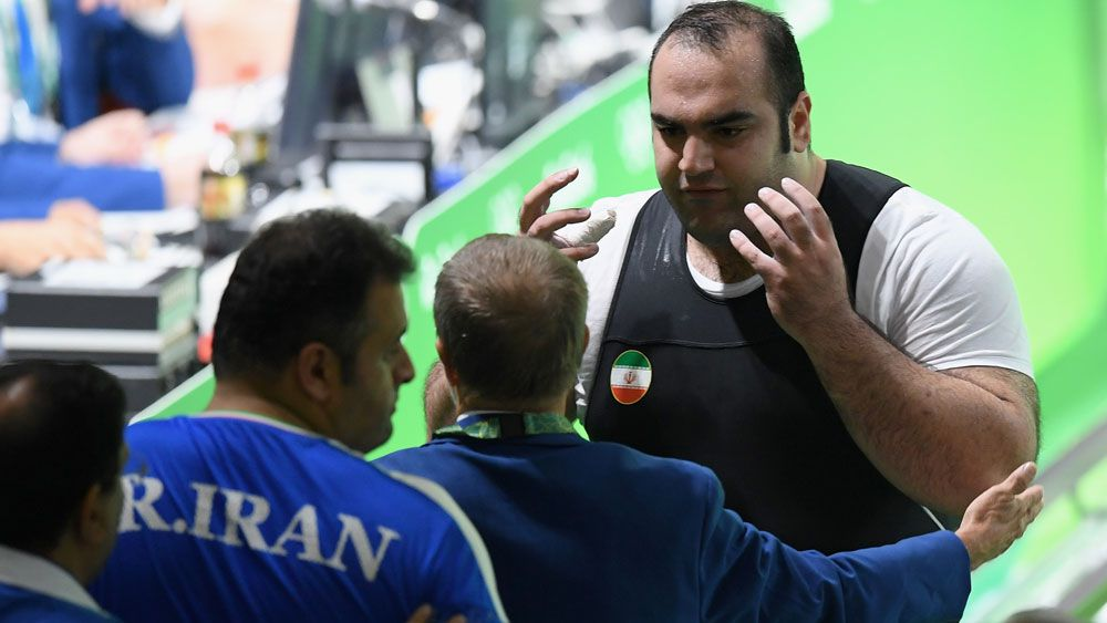 There was high drama at the 105kg+ weightlifting. (Gety Images)