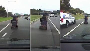 190511 Melbourne Monash Freeway mobility scooter driver police News Australia