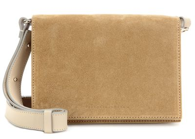 "<a href=""http://www.mytheresa.com/en-au/mini-suede-shoulder-bag-534248.html?catref=category "" target=""_blank"">Victoria Beckham Mini Shoulder Bag, $958</a>"