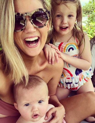 Brooke Cambell Bayes family photo in Bali