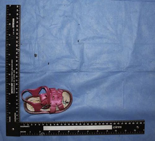 A small shiny pink sandal is hoped will provide a clue for relatives of the missing.