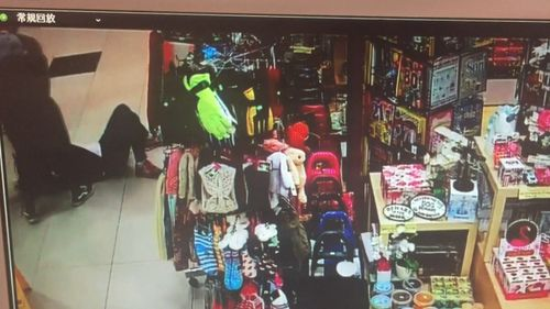 Detectives believe the same group targeted another Burwood Vodafone store, striking the owner as she closed the shop. Picture: Supplied