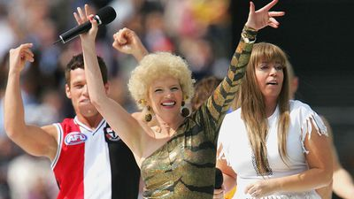 It was nice, it was different, it was unusual. Kath and Kim were just one of the acts who performed at the 2004 Premiership. (Getty)