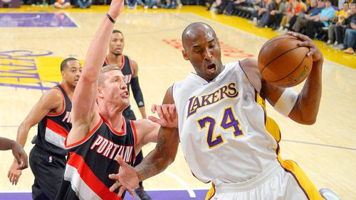 Bryant has played his entire career for the Lakers after being on-traded from the Charlotte Hornets in 1996. (AAP)
