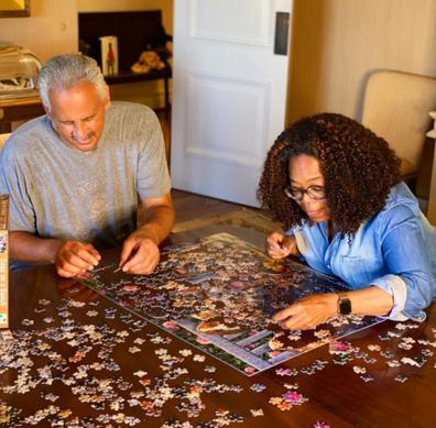 Oprah and husband Stedman Graham in an Instagram photo