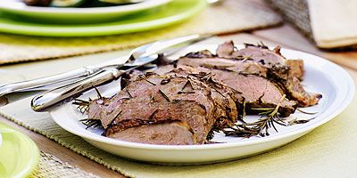 Butterflied lamb with rosemary balsamic marinade