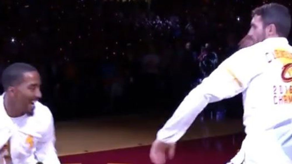 Cleveland Cavs deliver epic array of greeting gestures on their big night
