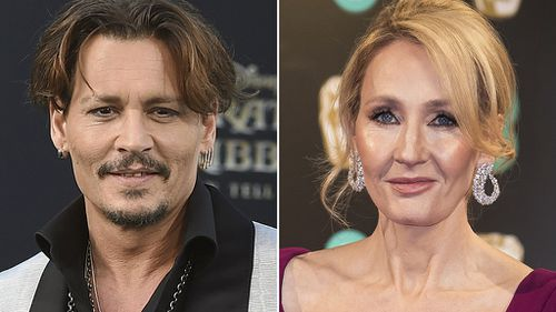 """Rowling said she is """"genuinely happy"""" with Depp's casting. (AAP)"""