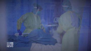 Nurses treating patients in Sydney's COVID-19 outbreak.
