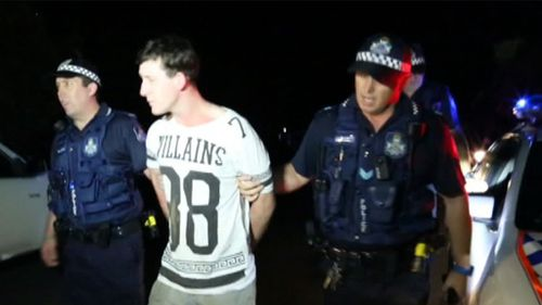 Mr Gillard was captured but Ms Boyd remains on the run. (9NEWS)