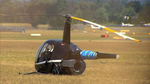 Initial inquiries indicate the helicopter crashed at low altitude while practising hovering.