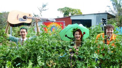 Garden variety: Aussie band, The Vegetable Plot, plays earthy music for hipster kids about healthy foods! Image: supplied