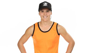 Chantelle Varley competing on Australian Ninja Warrior 2020.