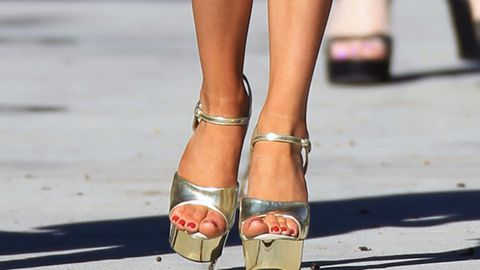 Who wore stripper heels to church?