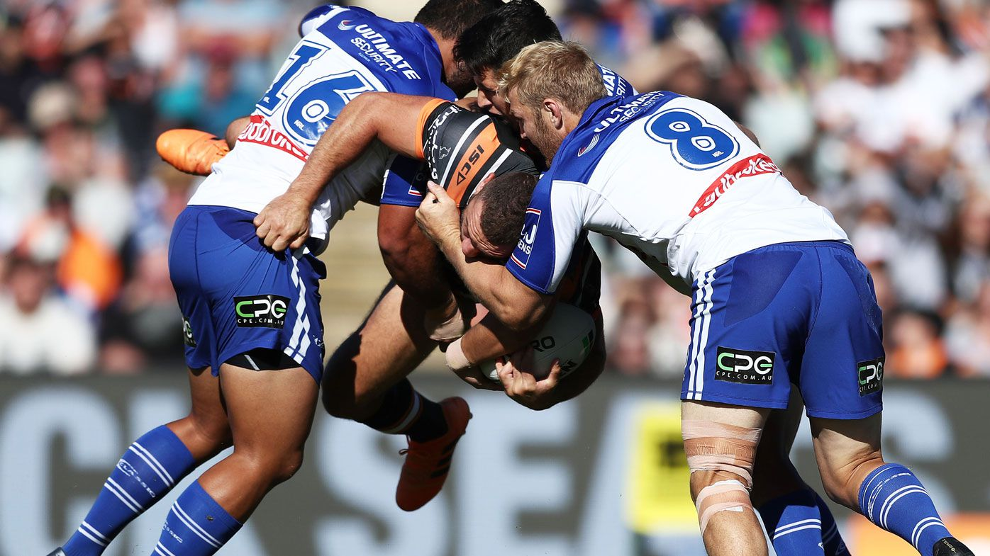 Canterbury Bulldogs kick-start NRL season with emphatic win over Tigers