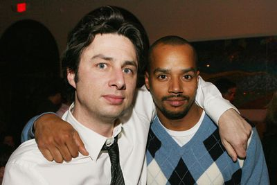 <i>Scrubs</i> on-screen pals Zach and Don spent so long goofing around together while filming that they became best buds in real life too! Pic: Getty