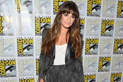 Lea Michelle drops by to promote <i>Glee</i>, and looks stunning enough that people don't ask why <i>Glee</i> is even at Comic-Con.