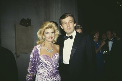 Ivana and Donald Trump at the Met Gala in 1985.