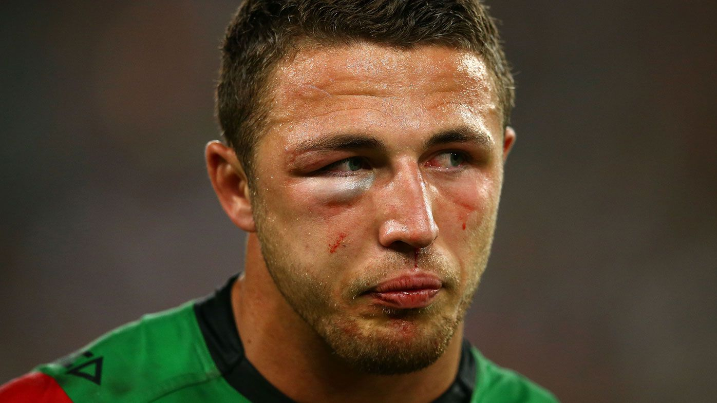 Michael Maguire hails retired Sam Burgess' 2014 Grand Final heroics