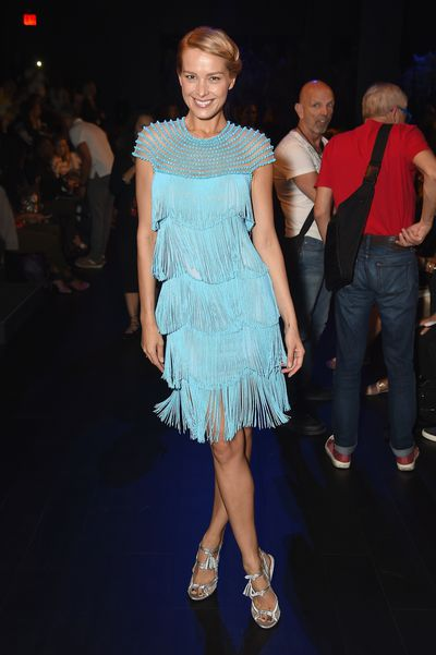 <p>It's a trend worth getting in a flap about with fringing take over the runway at New York Fashion Week.</p> <p>Swimsuit model and tsunami survivor Petra Nemcova showcased the fluid appeal of fringing in the front row of Naeem Khan's New York Fashion Week show, looking like a Malibu surfer 1920s flapper.</p> <p>Disney actress Peyton List had a more metallic approach tot he trend that looks set to take over from feathers as the embellishment you want on your next evening out. </p> <p>Naeem Khan made sure that there was plenty of fringing on the runway with his bride offering more shimmy and shake than your local car wash.</p> <p>Khan doesn't have a monopoly on fringe with Alexander Wand, Anna Sui, Calvin Klein and Monse all demonstrating the versatility of stripping on rather than stripping off.</p>