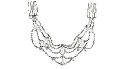 """<p><a href=""""http://www.net-a-porter.com/au/en/product/511679"""">Mara gunmetal-tone Swarovski crystal hair slide, $493.82, Jennifer Behr</a></p>"""