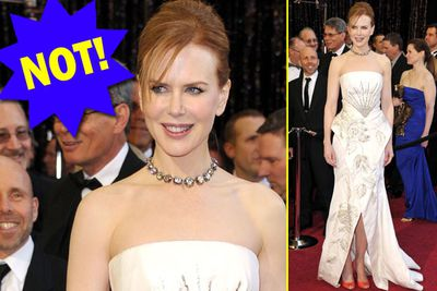 That Nicole Kidman drag queen is spot on!The weave is almost believable!