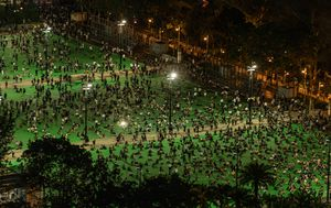 Pepper spray used on crowd after thousands defy ban for Hong Kong Tiananmen Square memorial
