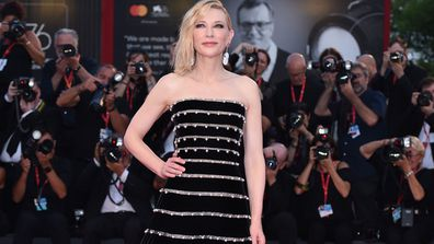 """Cate Blanchett walks the red carpet ahead of the """"Joker"""" screening during during the 76th Venice Film Festival at Sala Grande on August 31, 2019 in Venice, Italy."""
