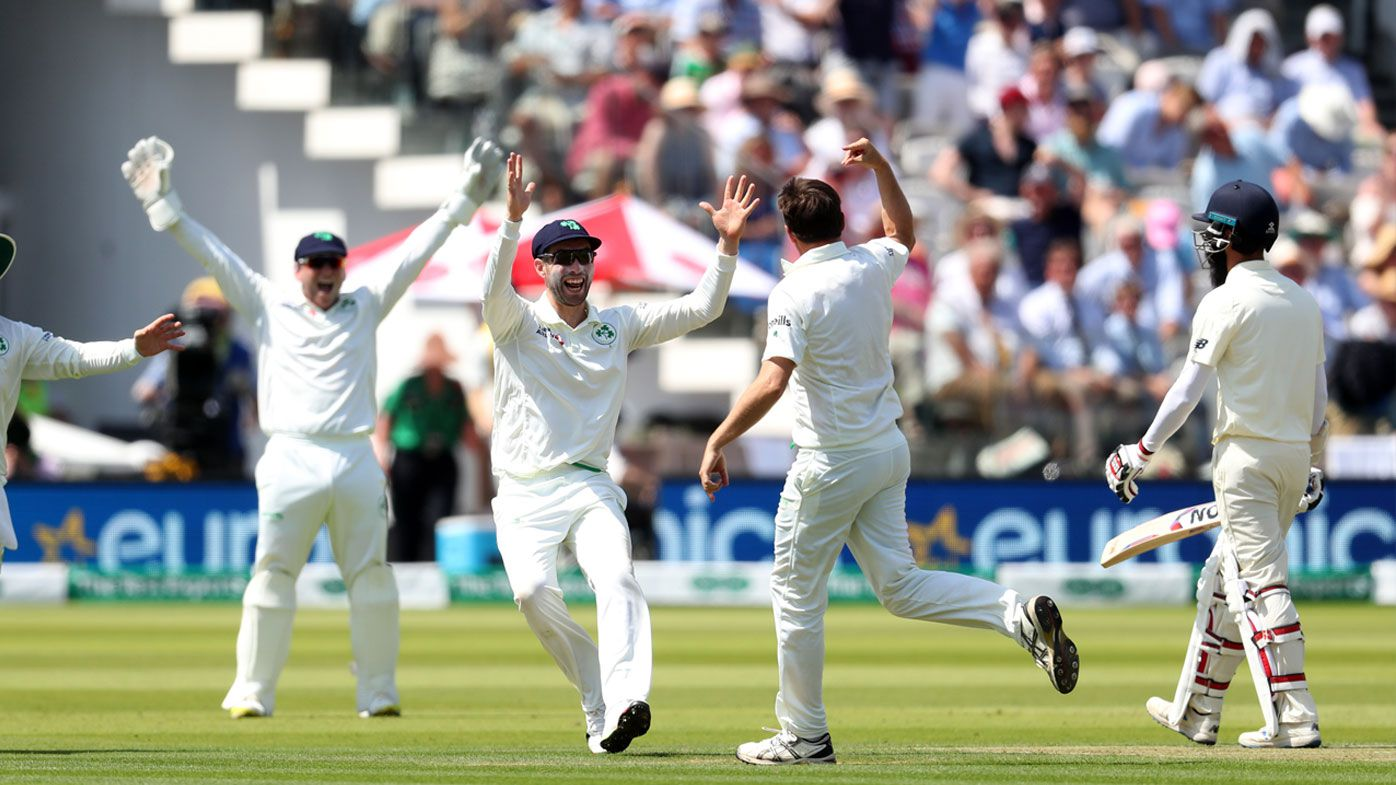 England rocked by Irish to be all out for 85 in one-off Test at Lord's