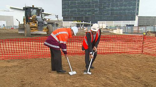 The multi-million-dollar expansion of Adelaide Airport began today.