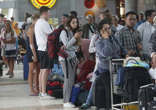 Mr Maffescioni said there are many stranded tourists who remain on the islands and have been given no sign of when or how they will be able to leave. Picture: AAP.