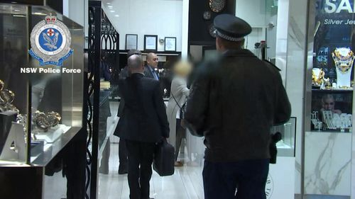 Police have raided Jacobsens Jewellery in Bondi Junction. Picture: NSW Police