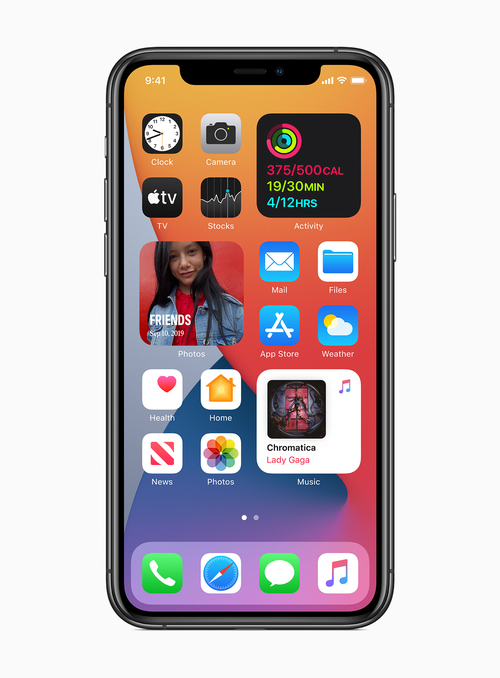 Widgets have also been re-designed allowing users to customise their smartphone's homescreen.