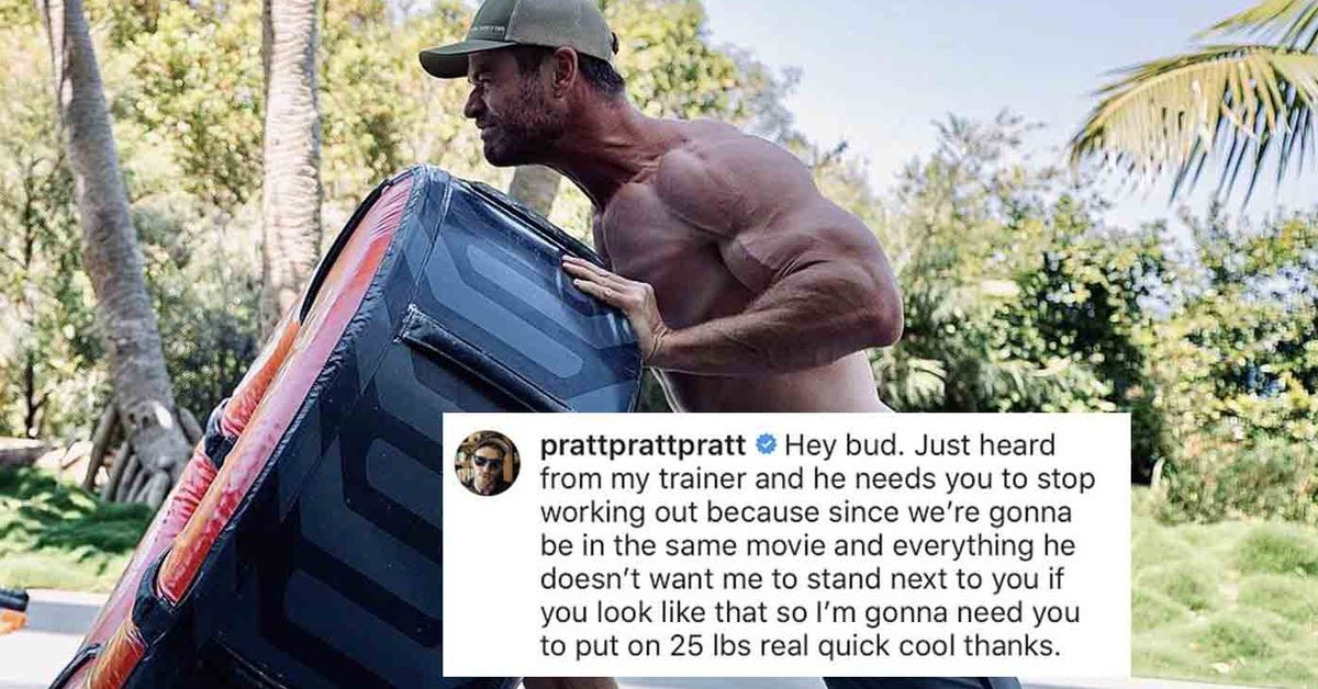 Chris Pratt begs Chris Hemsworth to stop working out so he won't be upstaged in Thor film – 9TheFIX